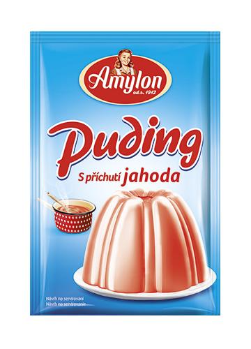 Značka puding-jahoda