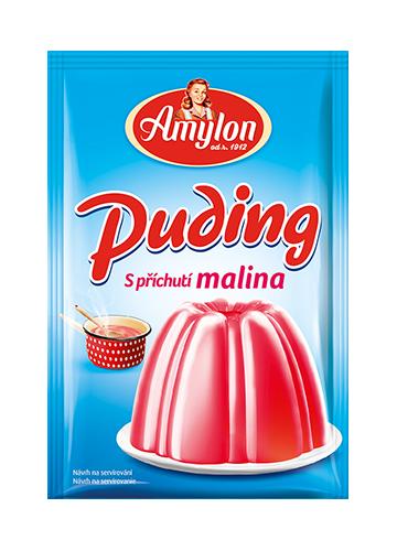 Značka puding-malina