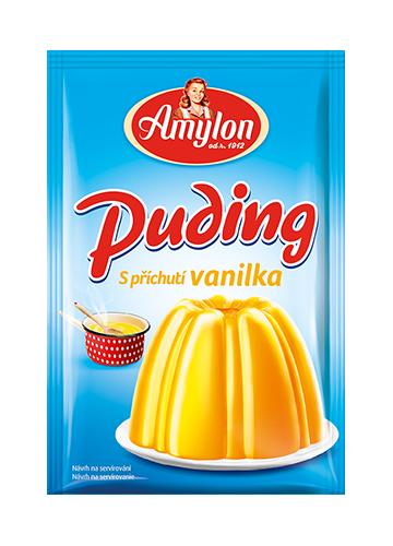 Značka puding-vanilka